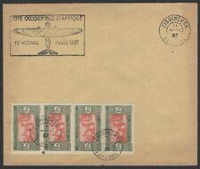 Senegal 1937 First Flight cover FFC from ZIGUINCHOR