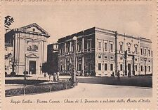 REGGIO EMILIA - Piazza Cavour - Chiesa di S.Francesco e Banca d'Italia