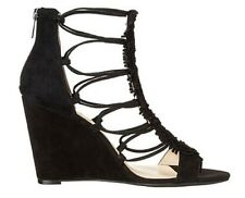 Women's Shoes Jessica Simpson BECCY Wedge Sandals Heels Suede Black