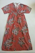 JESSICA SIMPSON MATERNITY Salmon Pink Floral Dress ~ Women's XL X-LARGE