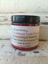 Natural Remineralizing Whitening Tooth Powder, Clove Neem Toothpaste