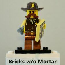 New Genuine LEGO Sheriff Minifig with Gun and Wanted Tile Series 13 71008