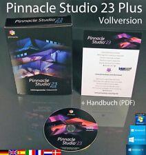 Pinnacle Studio 23 Plus Vollversion Box + DVD HD Videosoftware +Handbuch OVP NEU