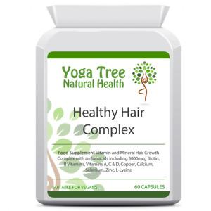 Yoga Tree Healthy Hair Growth Vitamin Mineral Complex 60 Vegan Capsules