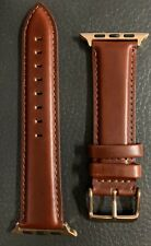 apple watch band 42mm In leather - Burgundy Rose Gold