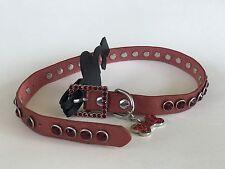 Pink Rhinestone Leather Dog Collar 18 inch