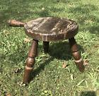 Vintage Authentic Furniture Produc 3 Leg Wood Farmhouse Milking Stool w/handle