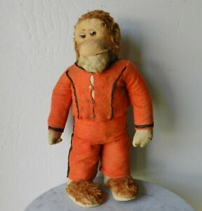 """RARE EARLY Steiff 16"""" Standing Monkey Mohair Felt Excelsior Stuffed"""