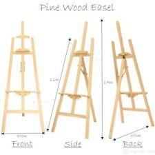 1.5m Pine Wood Easel Artist Art Display Painting Shop Tripod Stand Adjustable