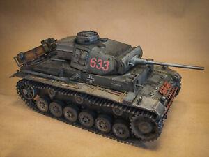 HengLong Panzer III RC Tank w/ Metal Chassis & Tracks & OPEN PANZER Electronics