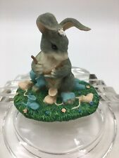 Charming Tails Bunny Knitting Baby Booties Guess What! Figurine 89/714