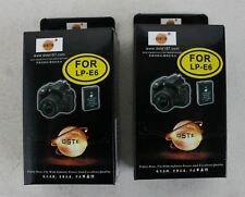 2 X Nouveau Dste LP-E6 7.4 V rechargeable 2.6Ah Li-Ion Batteries Pour Canon EOS 5D