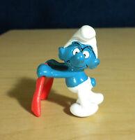 Smurfs 20184 Bullfighter Smurf Matador Figure 1984 Vintage PVC Toy Figurine Peyo