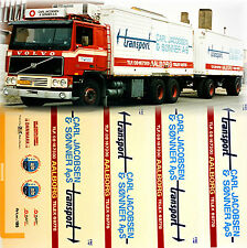 Volvo Carl Jakobsen Expédition Aalborg DK 1:87 camion autocollant décalcomanie
