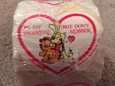 Sealed RARE Vintage Garfield And Odie Be My Valentine Sticker Roll 125 Wrapped