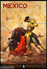 Mexico/ Bull Fighter Travel Poster -