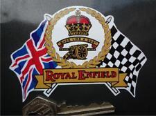 Royal ENFIELD drapeaux scroll Classique Casque Moto Autocollant Bullet continental
