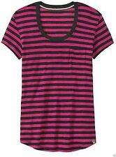 NWT Smartwool Boyfriend Tee Stripe Purple SZ S 406762 v87
