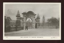 Hampshire Hants PORTSMOUTH Naval Barracks entrance RP PPC by Gale & Poulden