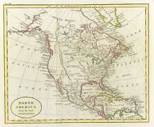 Original Map of North America from Best Authorities by J C Russell c1812