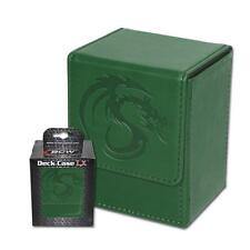 Wholesale Lot of (24) BCW Deck Case LX Green Leatherette MTG Box Holds 80 Cards