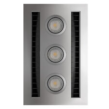 IXL TASTIC NEO VENT N LITE MODULE BATHROOM FAN & LIGHT 3x7W LED, SILVER*AUS Made