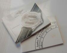 NOTICE + REGLE A CALCUL  Breitling CHRONOSPACE quartz document original