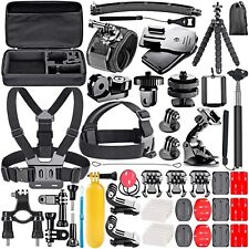 53 pièces Kit accessoire GoPro Hero Fixation Camera Gopro Session Harnais Gopro