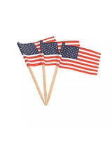 American Flag Food and Cocktail Picks, Pack of 100
