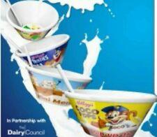 Full Box Of 8x Kelloggs Tip N Sip cereal bowls. School Breakfast Club Nursery.