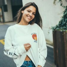 New! Brandy Melville White Waffle long sleeve Laila St Croix thermal top S/M