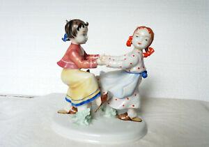 """Ilmenau,Metzler&Ortloff Figurine Nr. 7215 """" Tanzende Mädchen"""" - perfekt erhalten"""