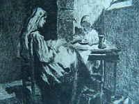 XIX Oder Vorn Antik Gravur Anonym Ätzradierung Forte
