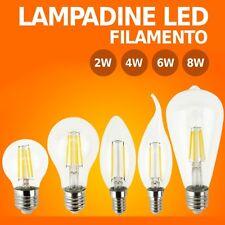 LAMPADINA LED E27 E14 Filamento LAMPADINE Oliva Fiamma Bulbo 2W 4W 6W 8W Retró