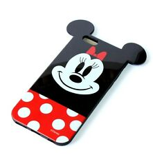 For iPhone 6 / 6S - HARD RUBBER TPU GUMMY SKIN CASE COVER RED MINNIE MOUSE EARS