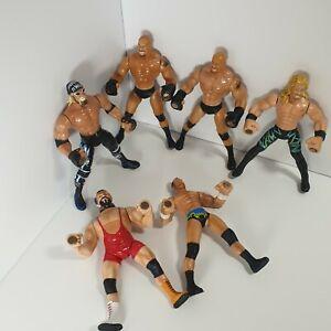 WWE  WCW Wrestling Action Figures Bundle Toy Biz Grip n Flip 1999 Vintage Toys