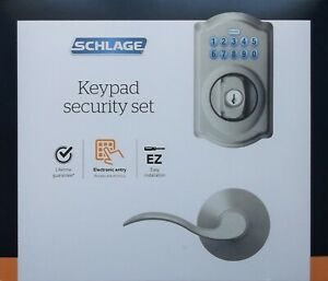 Schlage EZ Install Electronic Entry Keypad Security Set FBE365 V CAM 619 ACC NEW