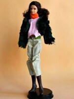 New Handmade For Barbie Casual Wear Fur Coat-Scarf-Shirt-Belt-Pants-Boots