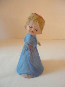 """Vintage 1970's Porcelain Angel Bell 4 1/4"""" Tall"""