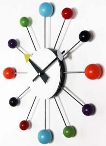 Infinity Instruments Orb Spoke Midcentury Modern 15 inch Retro Starburst Clock