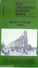 Detailed Old Ordnance Survey Map Swiss Cottage London 1894 Sheet 37 Clearance