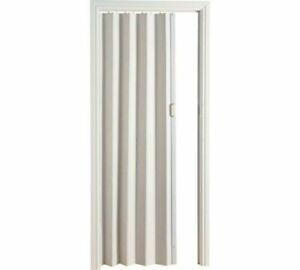 PVC Oak Effect Folding Door - White