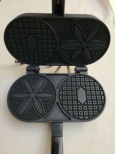 Old/NEW Stock ~Vintage C. Palmer ELECTRIC PIZZELLE IRON Model 1000T USA Tested