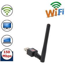 150M USB WIFI Wireless LAN Adapter Long Range 2dBi Antenna Dongle for Desktop PC