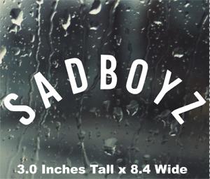 SADBOYZ Sad Boyz Vinyl Sticker Decal JDM Stance Gapplebees Boys Peeker Anime