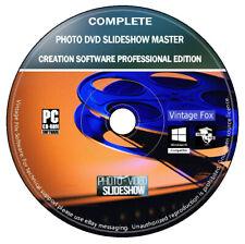 DVD de software de creación de maestro de presentación de diapositivas de fotografías (PC) + imagen y video Editor