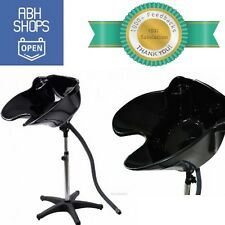 Portable Shampoo Basin Sink with Stand Black for Salon Professional Adjustable