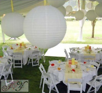 12x white paper lanterns engagement wedding birthday party hanging decorations