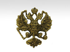 Brass Casting of Russian Imperial Double Headed Eagle Romanov Coat of Arms