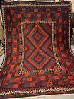 7X10Feet Handmade vintage Uzbek Maimana Vegetable Dye Natural Colors Wool Kellim